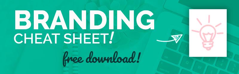 Branding cheat sheet free download