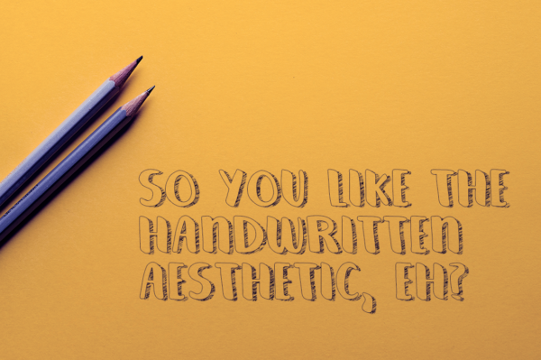 Cereza handwritten font - handmade calligraphy typeface